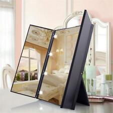 Portable LED Illuminato Specchio da Trucco Pieghevole Make up Cosmetici Specchio
