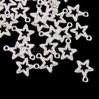 50Pcs Tibetan Silver STAR SIGN Pendants Charms for Necklace Bracelet Making