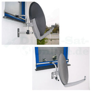 ? Easymount DIY 1 Easy Mount Fensterhalterung Sat-Antennen Halterung ALU