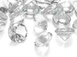 150 goldene Deko Diamanten Edel Steine Streu Tisch Deko Steinchen 9 mm gold