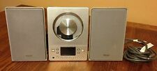 Teac CD-X8 Micro Hi-Fi System w/ Speakers Wires Cables Radio Antenna CD player