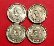 """INDIA 5 RUPEES 2004"""" K.KAMARAJ """" SET OF 4 GEM UNC COINS RARE ITEM HYDERABAD MINT"""