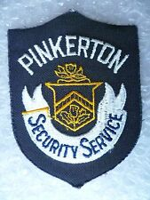 Patch- Pinkerton Security Service US Police Patch (NEW,apx. 125x90 mm)