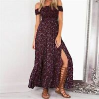 Dresses Fashion Floral women's V Neck sundress summer Cocktail beach Long Party
