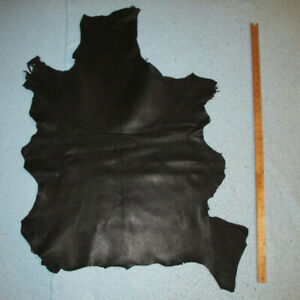 Economy Black Goatskin Leather Hide Goat Skin