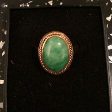 18ct Gold Oval Jade Ring 18 Carat Yellow Gold