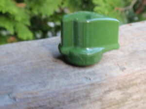 ANTIQUE  ON OFF ELECTRICAL  GREEN PORCELAIN LIGHT SWITCH