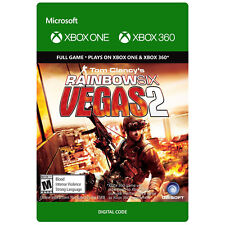 Rainbow Six Vegas 2 Two Xbox 360 or Xbox One Download Card DLC
