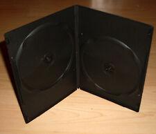 50 DVD Hüllen Case Slim 2fach Doppel dünn 7mm 190 x 135 x 7 schwarz schmal Neu