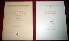 Francisco López Capillas Music Scores 2V Mexico Baroque  Musicology