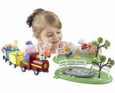 Peppa Pig Playtime Playground Playset With Train Duckpond Seesaw & 5 Figures