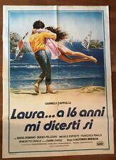 FF MANIFESTO,2F,LAURA.A 16 ANNI MI DICESTI SI 1983 BRESCIA,MARE WINDSURF VELA