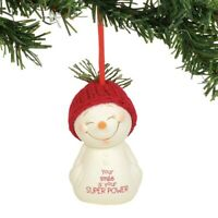 Dept 56 Snowpinions YOUR SMILE IS YOUR SUPERPOWER Snowpinion Ornament 6003270