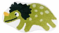 KIDS CHILDRENS DINOSAUR RUG MAT WHITE GREEN 40 X 60CM