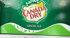 18 CANS OF CANADA DRY GINGER ALE POP (1 CASE) 18x355ml