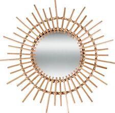 Hoi An Round Rattan Cane Mirror Spike Willow Cane Natural 62x2.5cm M&C