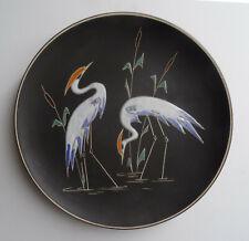 mid century design - Dekorativer Ruscha Keramik Wandteller Reiher Motiv  ~60er