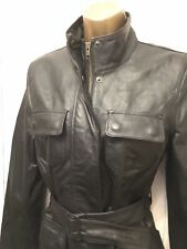 F&F Ladies Real Leather Belted Jacket 12 Florence Fred