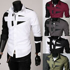 Neu Freizeithemd Klassische Hemden Langarm Herrenhemd Slim Fit T-Shirt Polo Hemd