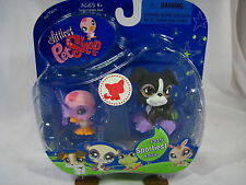 BNIB LITTLEST PET SHOP DOG AND DUCK WITH SNORKEL, GOGGLES & FLIPPERS #825 & #826