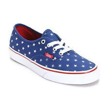 VANS AUTHENTIC FOIL STARS RED BLUE SHOES KIDS US 1 UK 13.5 EUR 31.5 CM 19 SK8