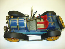 Antique Old Vintage Mercer Wind Up Toy Car And The square Key Winds up nicely