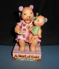 "Jim Shore ""You Have A Heart Of Gold"" Bears Figurine Enesco 4009906 2007 No Box"