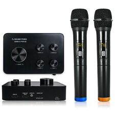 Sound Town Wireless Microphone Karaoke Mixer w/ HDMI ARC/Optical/AUX SWM15-PRO