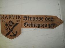 Wehrmacht ALPINI legno SCUDO mappa Narvik ww2 German Mountain Division