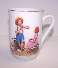 Norman Rockwell Museum Cup Mug Coffee Tea Music Master Flute Dog Boy Girl 1982