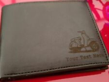 Scooter engraved Leather Wallet (merchandise gift present Lambretta Vespa)