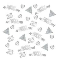28g Silver Anniversary Confetti 25 Years 25th Wedding Party Table Decoration