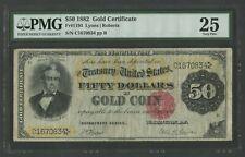 FR1193 $50 1882 GOLD NOTE PMG 25 CHOICE VF WLM7837