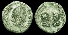 Septimius Severus, Caracalla & Geta – AR Denarius (Dynastic coinage series) Rome