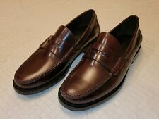 Coach Manhattan Leather Penny Loafer Mens Size 7.5 Dress Shoes Dark Brown $295