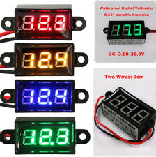 "0.56""Digital Voltmeter Motorcycle Car Waterproof Green LED Display Voltage Gauge"