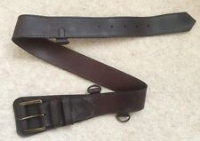 Burberry Waist Brown Leather Belt Size 26in/65cm
