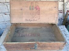 ANTIQUE VINTAGE PIN années 1930 Whisky Publicité Writing Box professeur Papeterie