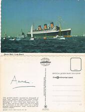 United Kingdom Princess Anne 1950- autograph signed postcard The Queen Mary