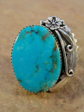 Peterson Johnson Navajo Sterling Silver & Turquoise Ring sz 9