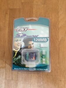 128MB secure digital memory card from PNY technologies. UK Seller