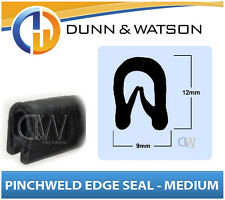 Rubber Pinchweld Edge Seal - (Medium) 9mm Wide x 12mm Tall - Sold by the meter
