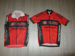 2 Lot Hincapie Cycling Bike Bicycle Pro Race Jersey Red Vest All Vision M Medium