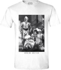 Star Wars The Force Awakens Droids United White T-Shirt Unisex Taille / Size M