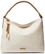 Michael Kors Lexington Large Vanilla Luggage Leather Shoulder Bag NEW $348