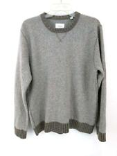 BILLY REID Pullover Sweater 100% Cashmere Heathered Gray Beige Mens Sz L Italy