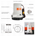 Rule 2000 Bilge Pump SEAFLO Submersible For Boats Fully Electric Marine 24V 5.0A photo