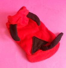DEVIL RED Dog con cappuccio maglione cappotto Top Chihuahua Pom maltese yorkshire Small 23 cm
