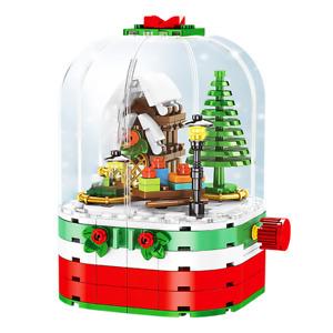 Rotating Christmas Fantasy Building Blocks - New Technic Christmas Series Santa