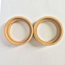 """2 Pcs 1"""" 1 Inch MDF Speaker Ring Speaker Mounting Spacer Rings With Bezel"""